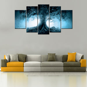 Dark Forest 5 Piece Canvas Wallart - HD Quality