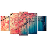 Eerie Forest 5 Piece Canvas Wallart - HD Quality