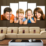 5Piece Custom Made Family Canvas Wall Art HD Printed - Perfect Gift