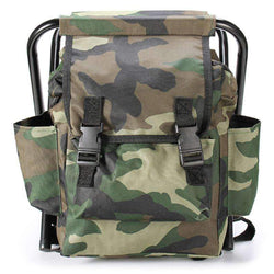 2 In 1 Chair Portable Backpack High-Intensity Steel Cross for Fishing Camping