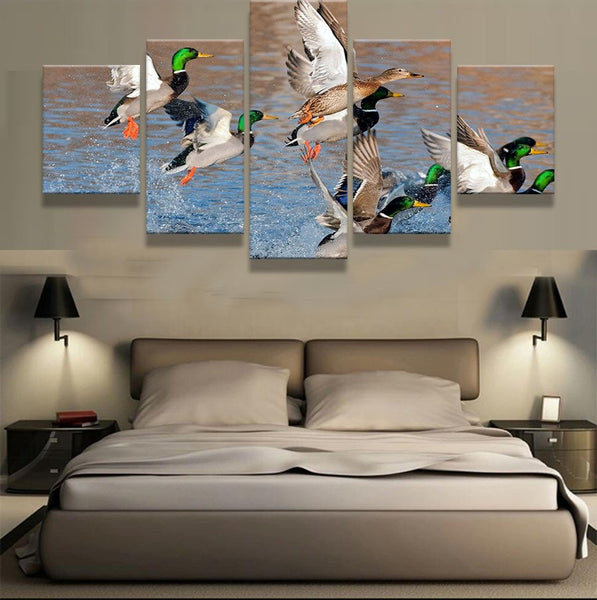 Fowl 5 Pieces Canvas Wallart - HD Qualuity