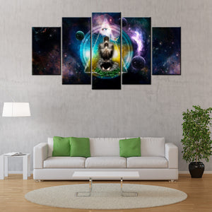 Meditation 5 Piece Canvas Wallart - HD Quality