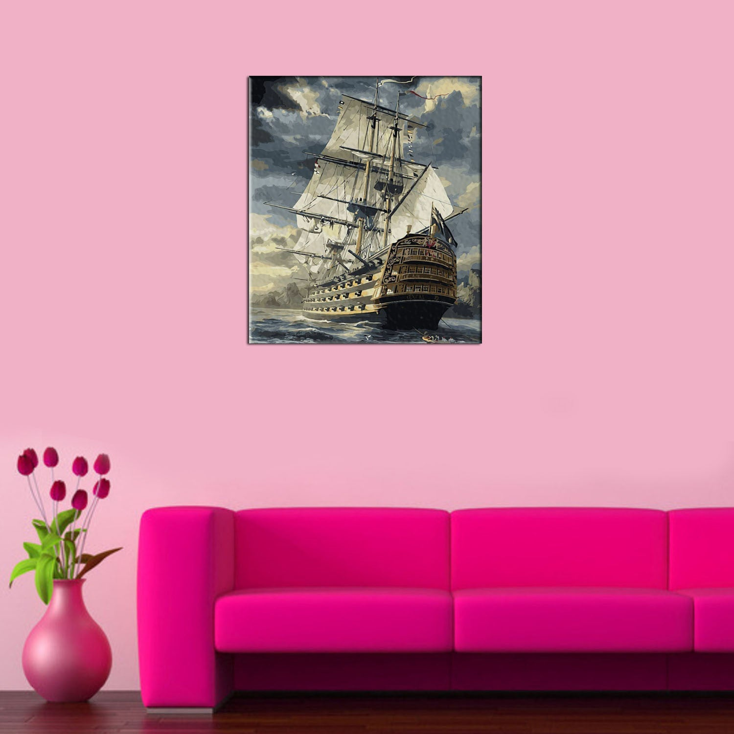 Sailing Boat DIY Painting Home Art  Pictures For Living Room