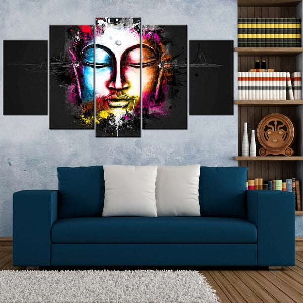 Artsy Buddha 5 Piece Canvas Wallart - HD Quality