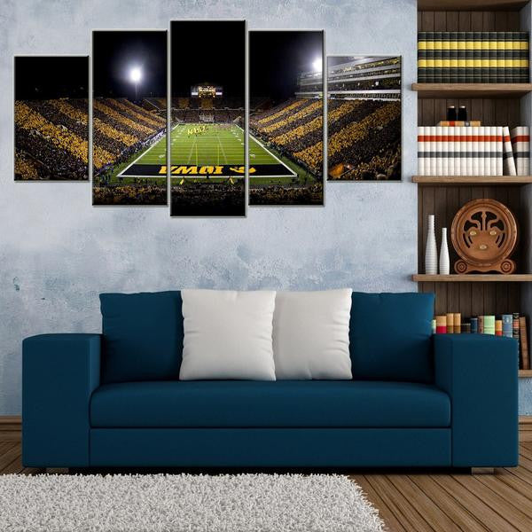 Iowa Hawkeyes Stadium 5 Piece Canvas Wallart - HD Quality