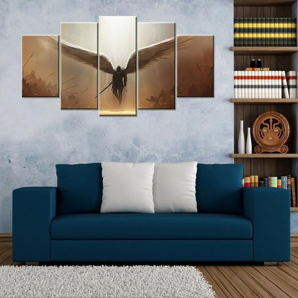 Avenging Angel 5 Piece Canvas Wallart - HD Quality