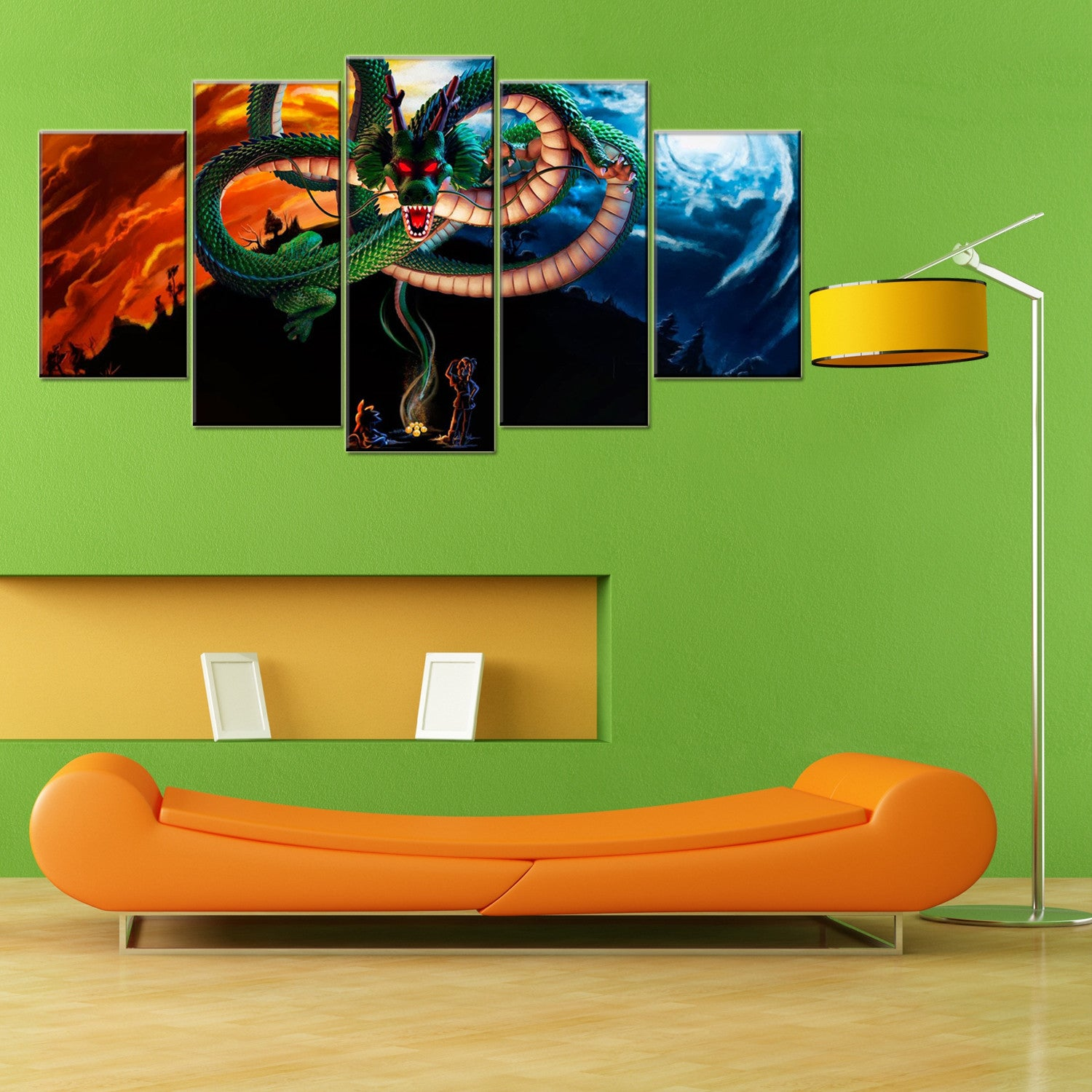 Dragon Ball Z Shenlong 5 Piece Canvas Wallart - HD Quality