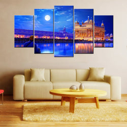 The Golden Temple 5 Piece Canvas Wallart - HD Quality