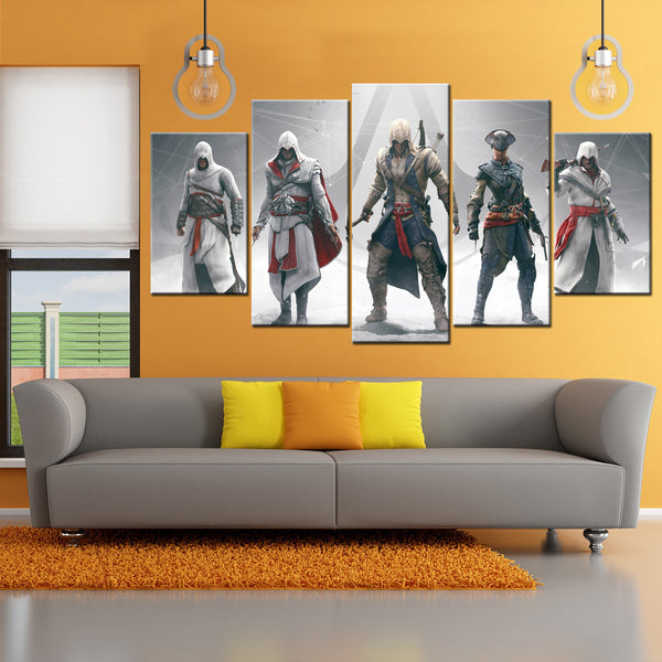 Assassins Creed 5 Piece Canvas Wallart - HD Quality