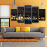 Phoenix City 5 Piece Canvas Wall Art - HD Quality