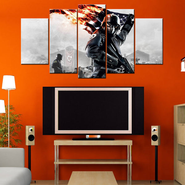 Homefront The Revolution 5 Piece Canvas Wallart - HD Quality