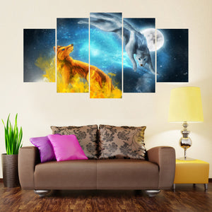 Moon Ascension 5 Piece Canvas Wall Art - HD Quality