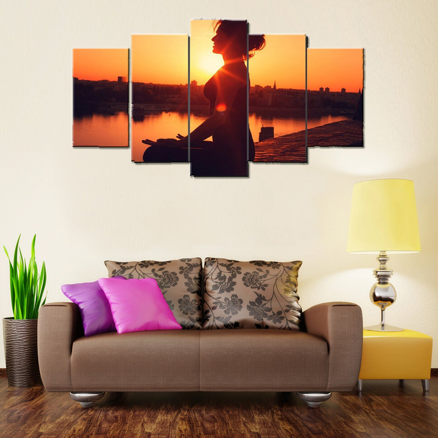 Limited Edition Yoga 5 Piece canvas Wallart -HD Quality