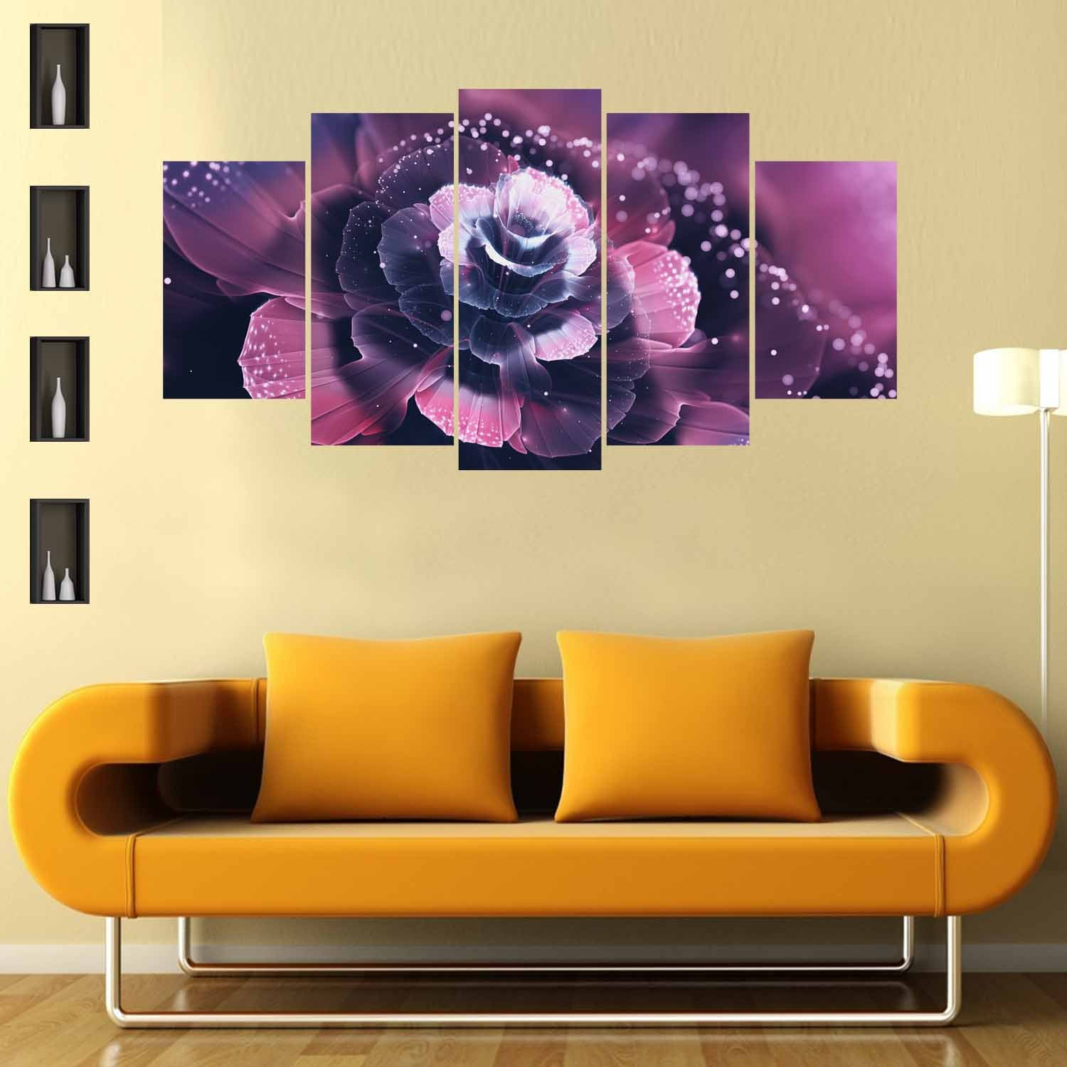 Purple Delight 5 Piece Canvas Wallart - HD Quality