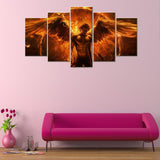5 Piece Archangel Fire Canvas Wallart - HD Quality