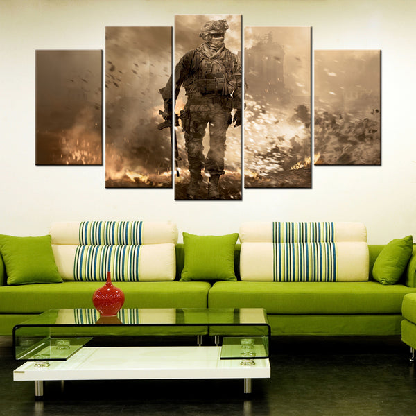 Veterans Pride 5 Piece Canvas Wallart - HD Quality
