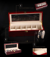 6 Slots Brand Fashion Watch Storage Boxes Case W026