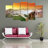 Great Wall of China 5 PIECES CANVAS WALLART -HD QUALITY