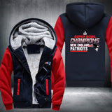 Super Bowl Champions New England Patriots  SUPER WARM THICKEN FLEECE ZIP UP HOODIE JACKET  OffersPlace