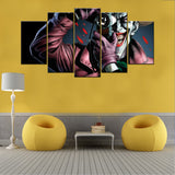 Batman The Killing Joker 5 piece Canvas Wall Art - HD Quality