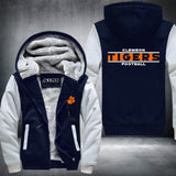 Clemson Tigers Super Warm Thicken Fleece Zip Up Hoodie Jacket