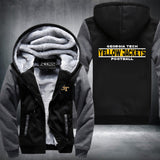 Georgia Tech Yellow Jackets Super Warm Thicken Fleece Zip Up Hoodie Jacket