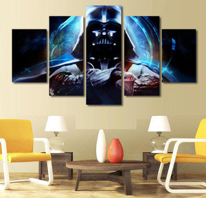 Star Wars 5 piece Canvas Wall Art - HD Quality