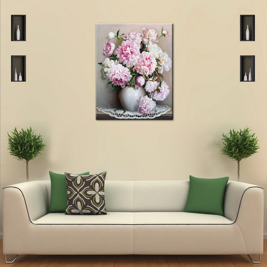 Pink Europe Flower DIY Painting Home Art  Pictures For Living Room