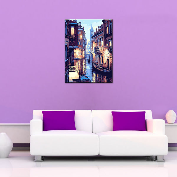 Venice Night Landscape DIY Painting Home Art  Pictures For Living Room