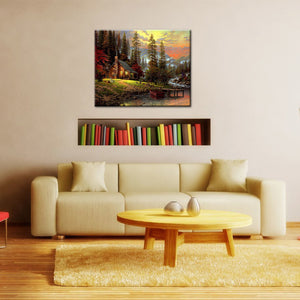 Beautiful Landscape DIY Painting Home Art  Pictures For Living Room