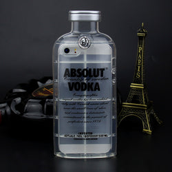 Silicone 3D  Vodka Bottle Case For Apple iPhone