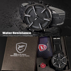 Sports Military Digital Watches Auto Date Red LED Shark