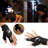 Fingers Glove Led Flash Light for Work In Dark Situation