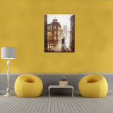 Vintage Europe Street DIY Painting Home Art  Pictures For Living Room