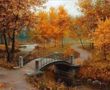 Autumn Season LandscapeDIY Painting Home Art  Pictures For Living Room