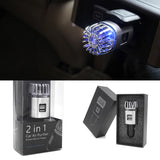 Car Air Purifier Ionizer With Dual USB Car Charger