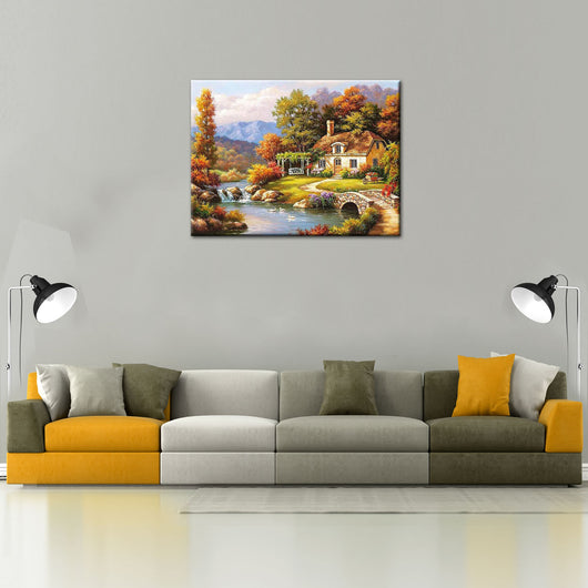 Fairyland Landscape DIY Painting Home Art  Pictures For Living Room