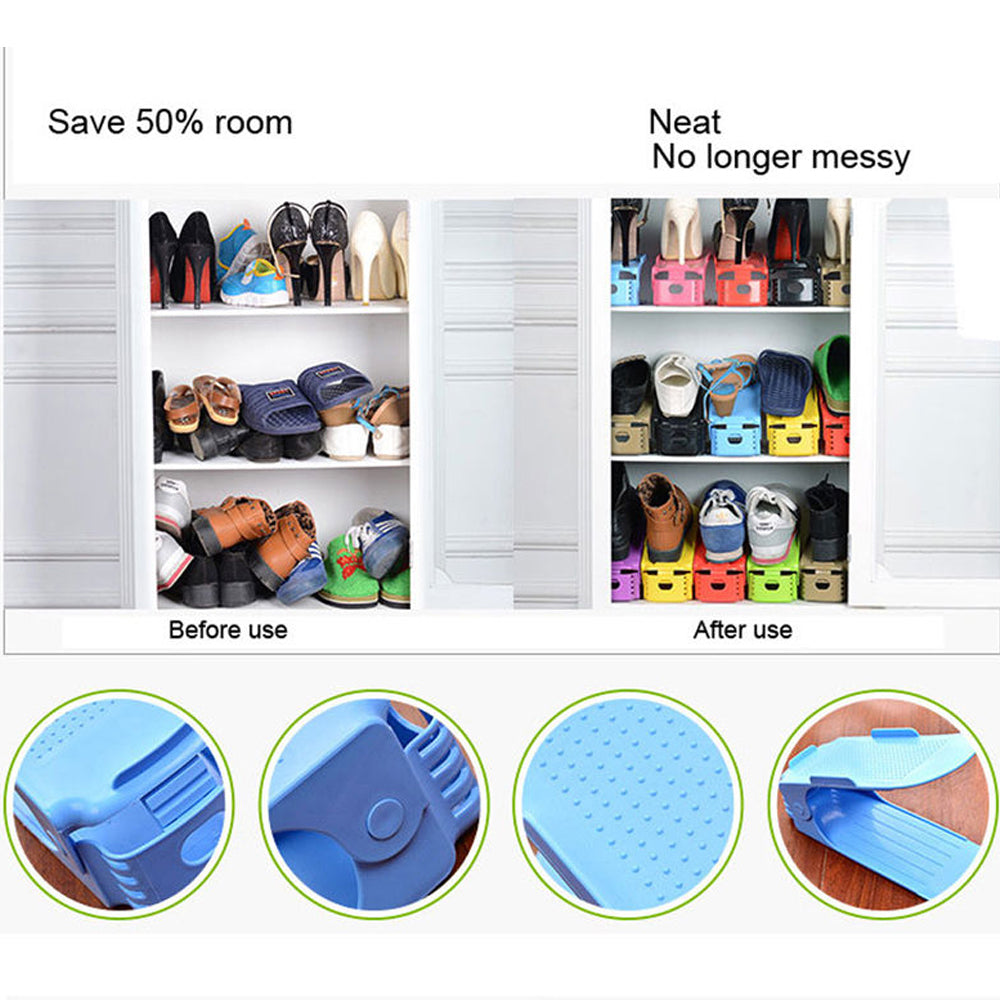 Convenient Double Cleaning Easy Shoes Organizer