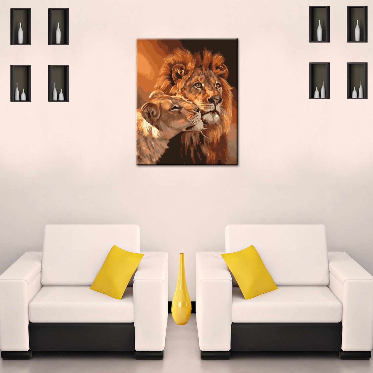 The Animal Lion DIY Painting Home Art  Pictures For Living Room