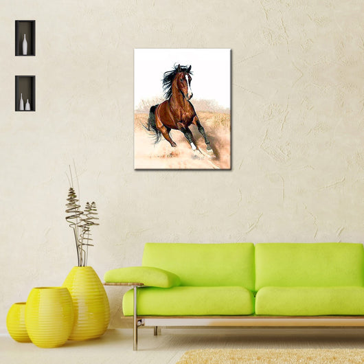 Running Horse DIY Painting Home Art  Pictures For Living Room