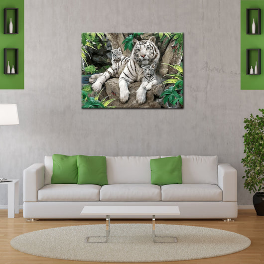 Animal Tiger DIY Painting Home Art  Pictures For Living Room