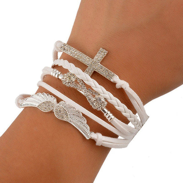 ANGEL CROSS-INFINITY BRACELET