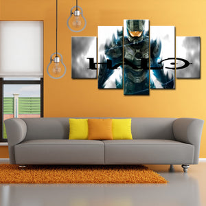 5 Pieces  HALO Canvas Wall Art - HD Quality