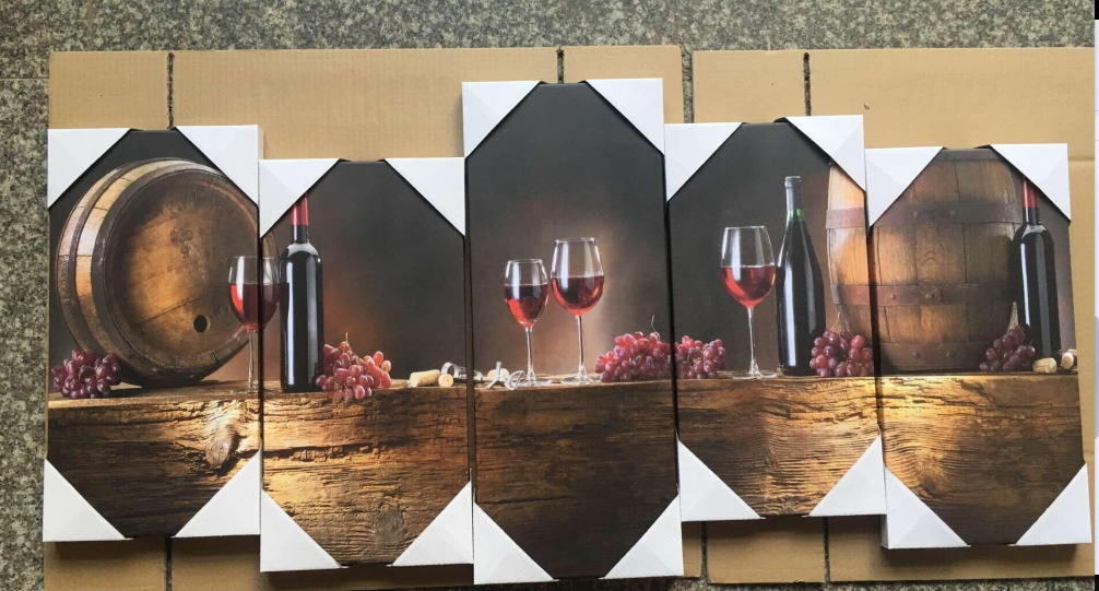 Wine Wall Art wine lovers 5 piece canvas wall art-high quality - offersplace
