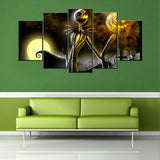 Jack Skellington 5 Piece Canvas Wallart - HD Quality