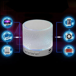 Mini Led Wireless Bluetooth Speaker FM and Hand Free Calls for Phone , PC