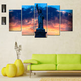 Statue Of Liberty 5 PIECES CANVAS WALLART -HD QUALITY