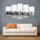 Native Americans 5 Pieces Canvas Wall Art - HD Printed