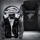 """New Game of Thrones Winter is Coming Stark"" Super Warm Thicken Fleece Zip Up Hoodie Jacket"