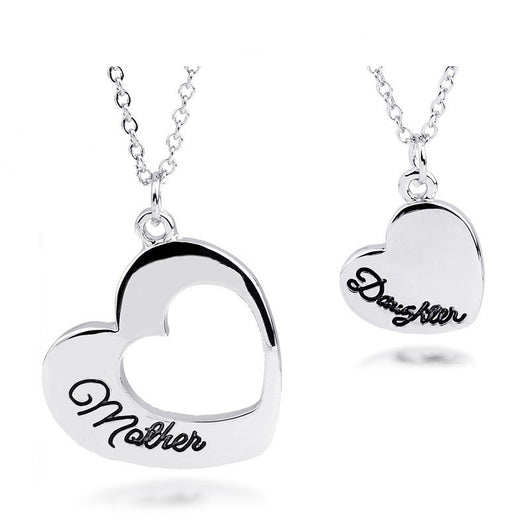 New heart shape mother daughter necklace set perfect gift offersplace new heart shape mother daughter necklace set perfect gift aloadofball Image collections